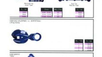 Şaryo , Saç Kaldırma , Zincir Çektirme Fiyat Listesi