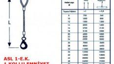 Tek Bacaklı Otomatik Emniyet Kancalı Çelik Halat Sapan