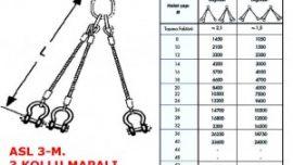 Üç Bacaklı Gözlü Mapalı Çelik Halat Sapanı
