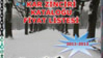 2011-2012 Patinaj Kar Zinciri Kataloğumuz ve Fiyat Listemiz Yayındadır.